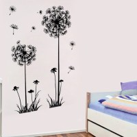 best ! 70cmx50cm fashion dandelion wall art decal sticker ...