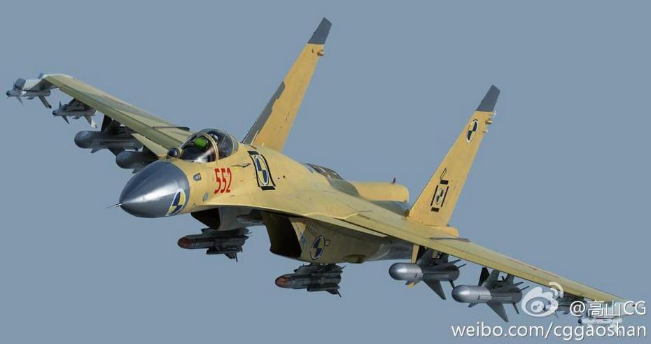 Shenyang J-15 (殲-15) Flying Shark, carrier-based fighter - army memo