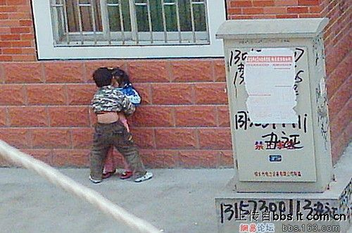 Are these Chinese kids just copying what they have seen on TV?