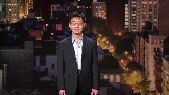 "Joe Wong, Chinese-American comedian, on ""Late Show with David Letterman""."