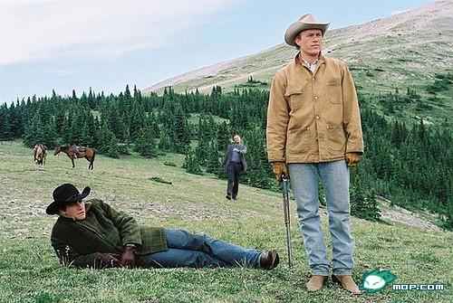 "Leonardo DiCaprio ""strutting"" photoshop: Brokeback Mountain."