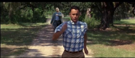 "Leonardo DiCaprio ""strutting"" photoshop: Forrest Gump."