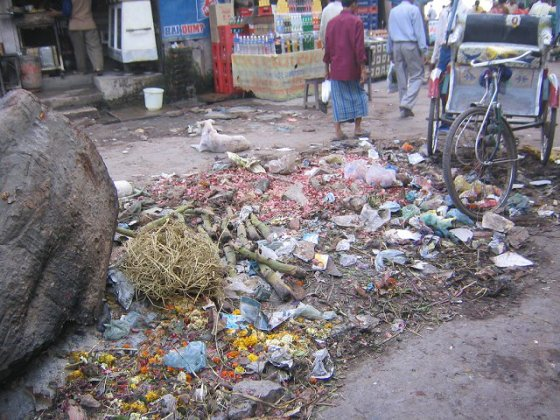 Garbage in Puri, India.