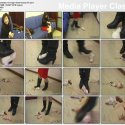 Chinese girls abusing, torturing, crushing, stepping on, and killing little rabbits.