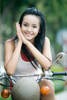 12-year-old Hoang Bao Tran is a Vietnamese model.