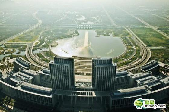 A Chinese government building in Wuxi city of Jiangsu, China.