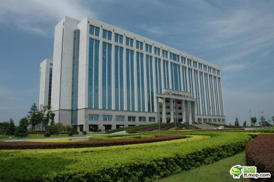 A Chinese government building in Changsha city of Hunan, China.