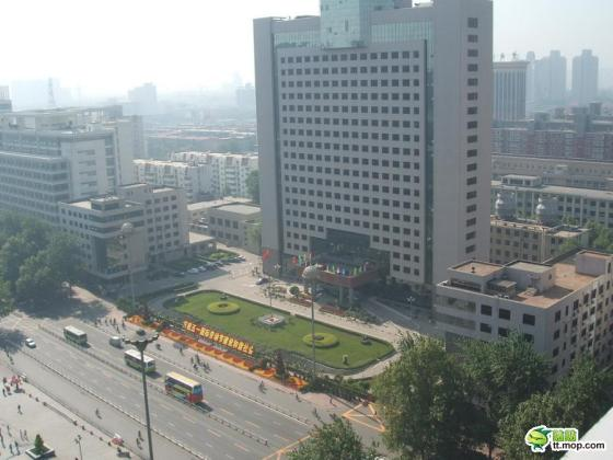 A Chinese government building in Shijiazhuang city of Jining city of Hebei, China.