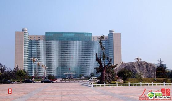 A Chinese government building in Linyi city of Shandong, China.