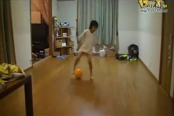 A 2nd grade football prodigy in Japan.