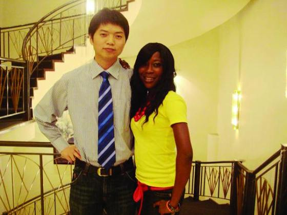 Chinese men with African women.