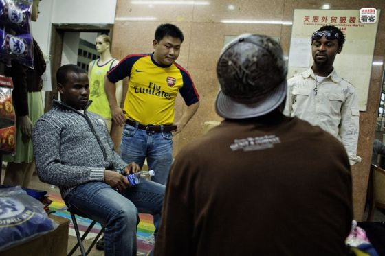 Black Africans in Guangzhou, China.