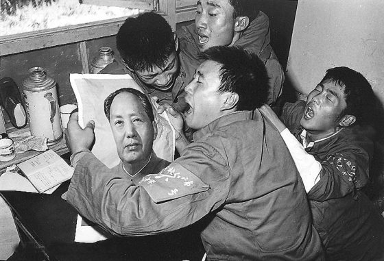 Chinese mourning Mao Zedong in September 1976.