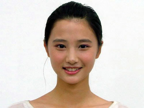 """Goddess Sister"" Lin Xuewei, an English teacher at Guangdong University of Foreign Studies Business College."