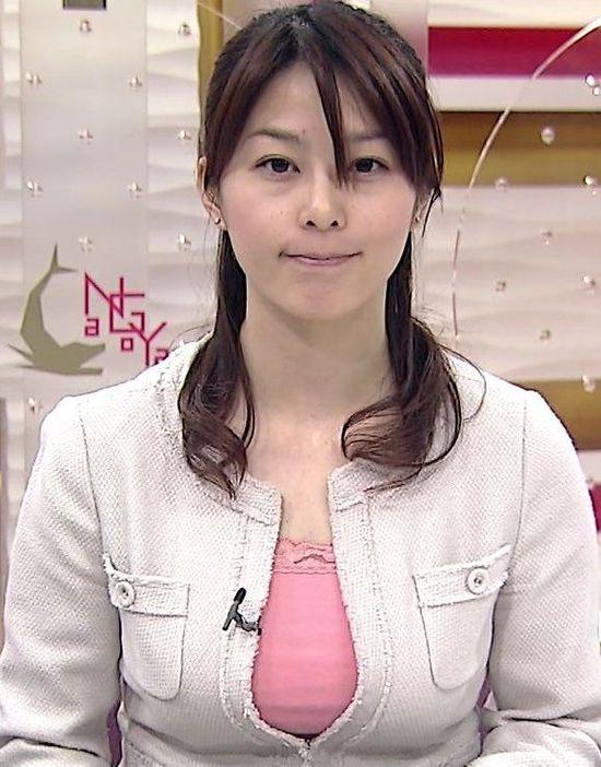 Sugiura Yuki, a news broadcaster for Japan's NHK tv station's morning news program.