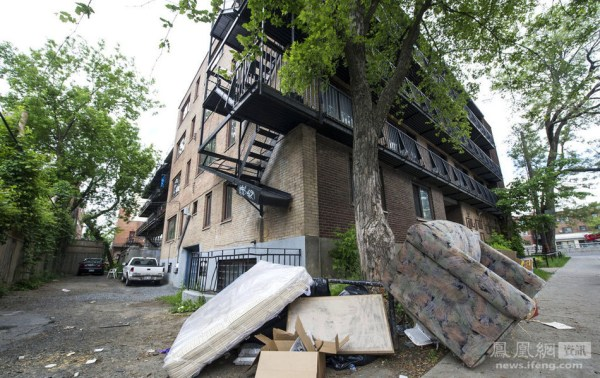 Outside Luka Rocco Magnotta's apartment,