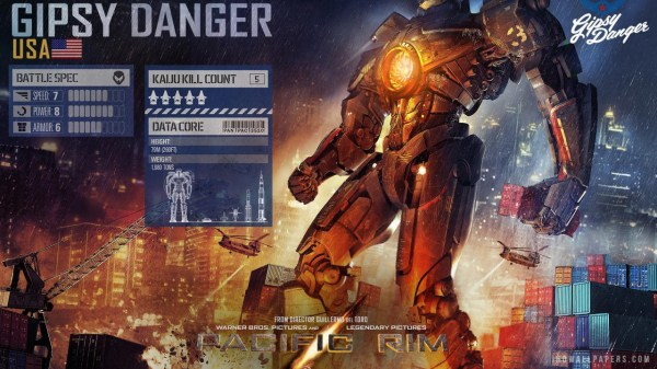 United States jaeger, Gipsy Danger, in Pacific Rim.