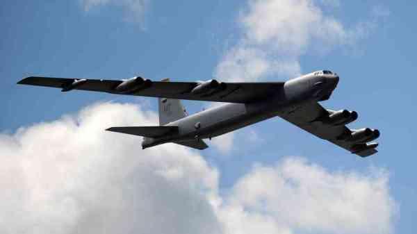 United States military B-52 bomber.