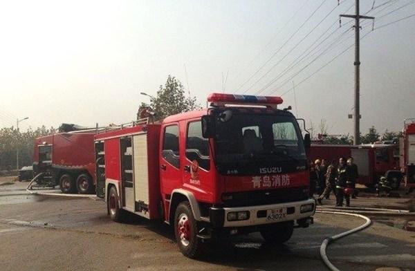 Photo of Qingdao oil pipeline explosion scene.