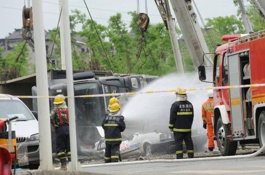 Truck Carrying 80 Tons of Gravel Has Blowout and Tips, 3 Dead