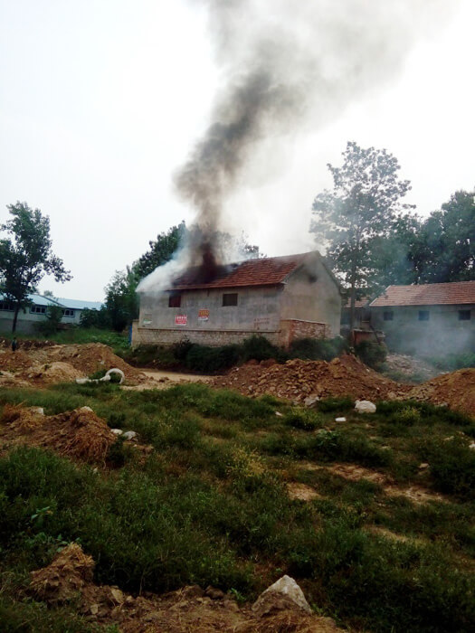 House Demolished By Government With Man Inside