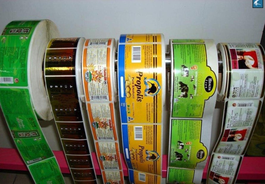 Eco-friendly pet custom label printing machine roll sticker
