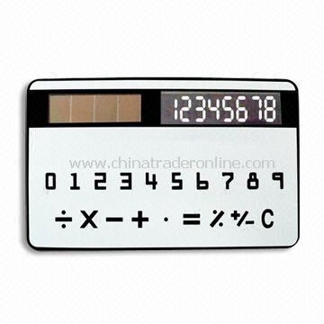 wholesale Eight Digits Handheld Calculator with Solar Power and