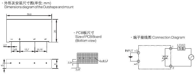SSR-DA2402P2,solid state relay pcb,single phase ssr - China Xurui