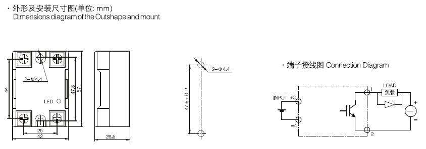 SSR-DD□□W1,DC Output SSR,dc dc solid state relay - China Xurui