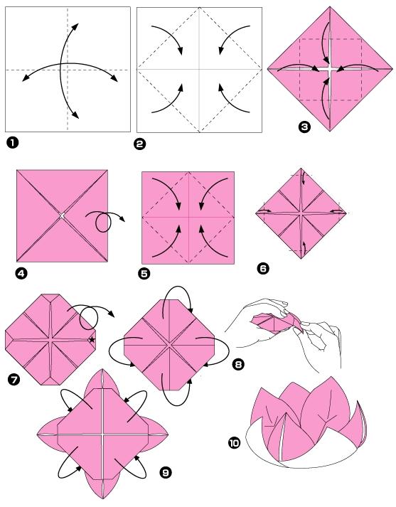 Un origami facile fleur - à offrir ou pour vous amuser tout en - christmas bookmark templates