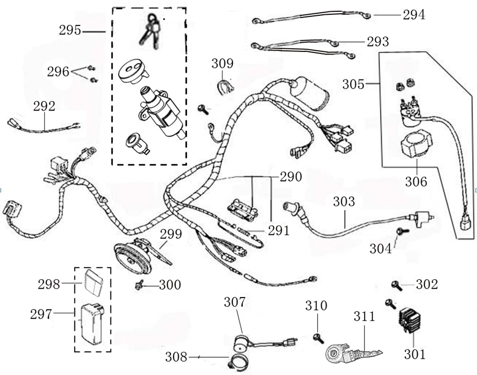 chinese electrical parts diagram