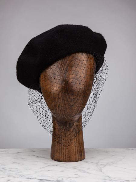 Silver Spoon Attire Beret with a Veil