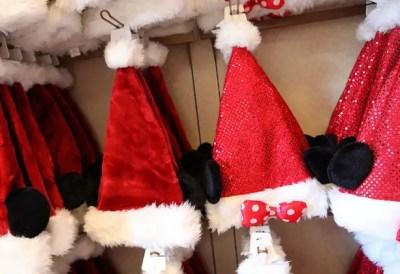Mickey Santa hats