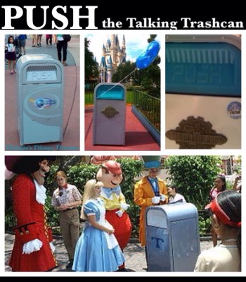 PUSH the Talking Trashcan