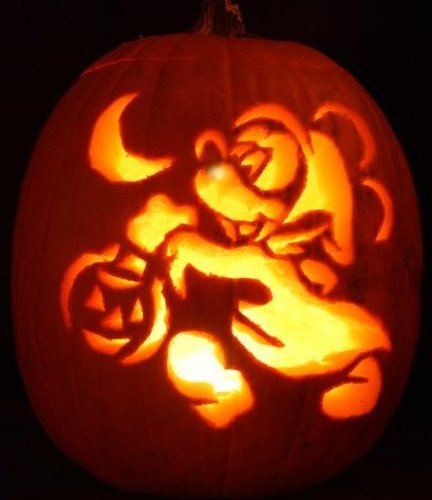 Disney universal themed pumpkin carvings