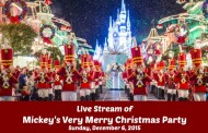 Live Streaming of Mickey's Very Merry Christmas Party on December 6th 2015