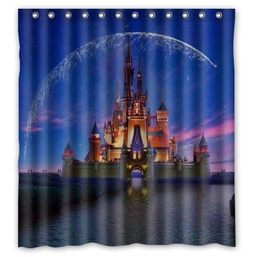 Wish upon a star with this disney castle shower curtain as a bright