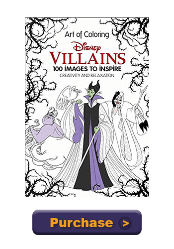 New Disney Villains Art Of Coloring100 Images To Inspire Creativity Available For Pre OrderChip