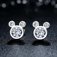 Stunning Sterling Silver Mickey Mouse Stud Earrings