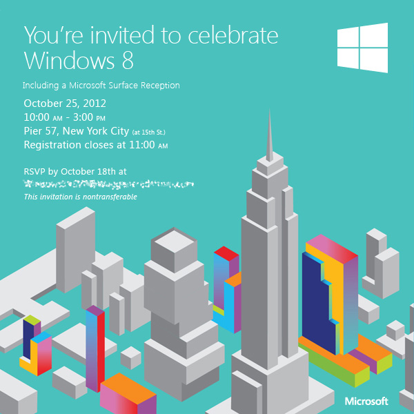 Microsoft Sends Invitations for Windows 8  Surface Launch Event