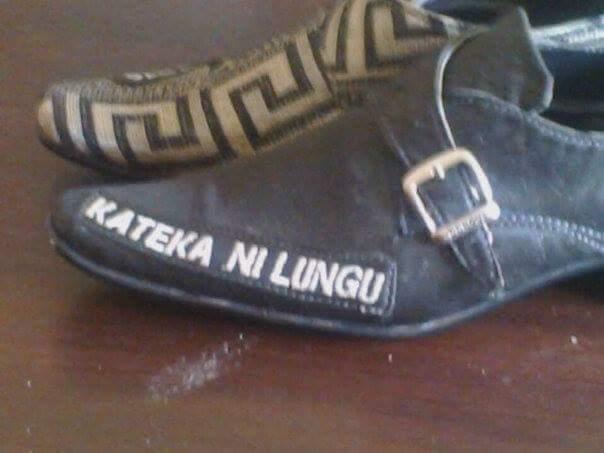 Edgar Lungu Shoe