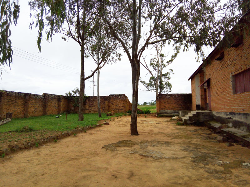 Mbala Old prison - Courtyard