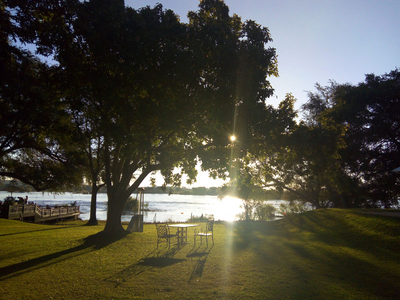 Light on the Zambezi River