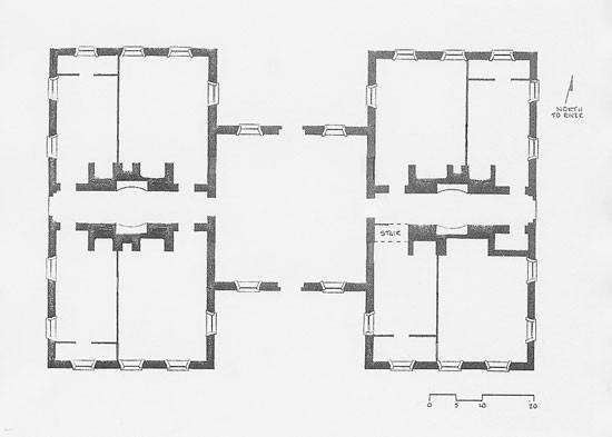 Floorplan of the Ukiivik, ( - plan d interieur de maison