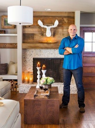 After shot of Williams family kitchen designed by Chip Wade as seen on HGTV and DIY Network's Elbow Room. Portrait of host Chip Wade.