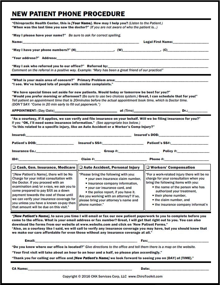 Office Forms - worker compensation form