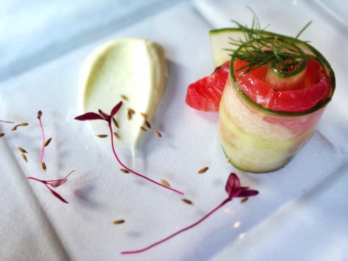 Chiswickish Foodie Blog - Mat Smith - Home cured salmon marinated in citrus with fresh cucumber, light wasabi mayo, dill