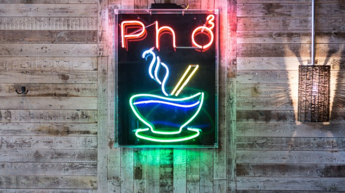 Pho neon sign Chiswick High Road