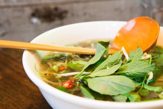 Pho Tai Lan with spoon