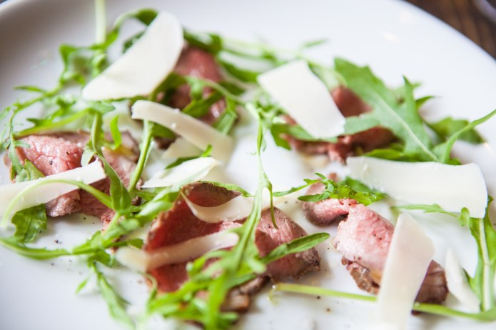 Dexter Beef, Rocket, and Parmesan Shavings